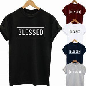 Buy Best Slogan Tee Blessed T Shirt 2020
