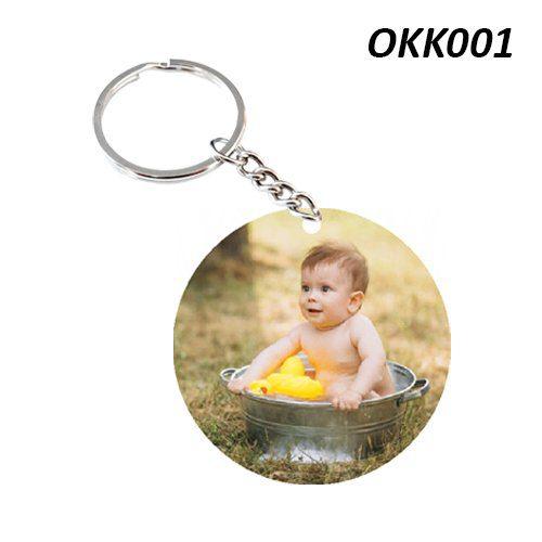 Wooden Keychain Round OKK01