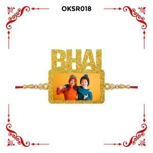 Best Personalized Bhai Text Photo Rakhi OKSR018