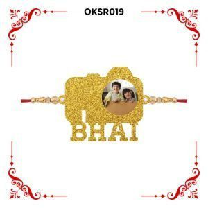 Best Personalized Camera Bhai Text Photo Rakhi OKSR019