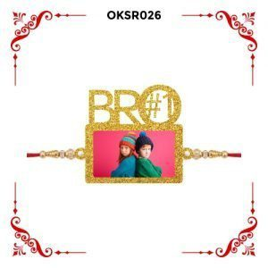 Best Personalized Bro Number 1 Photo Rakhi OKSR26