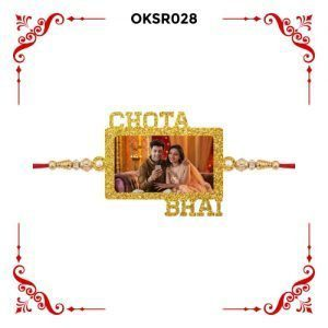 Best Personalized Chota Bhai Photo Rakhi OKSR28