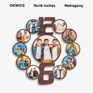 Buy Best 9 Photo Designer Personalized Clock OKW013