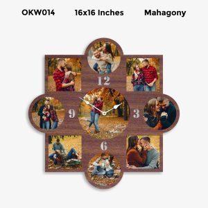 Buy Best 9 Photo Designer Personalized Clock OKW014