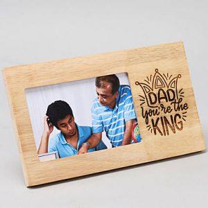 Buy Best King Dad Engraved Photo Frame OKE02