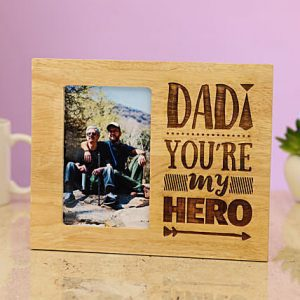 Buy Best Dad You Are My Super Hero Engraved Photo Frame OKE004